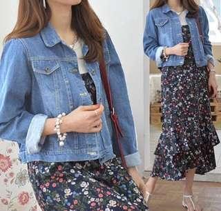 medium blue jacket jeans ( denim )