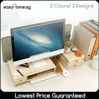 Monitor Stand C004901-C00404 - Desktop Office Organizer Storage Shelf Ergonomic