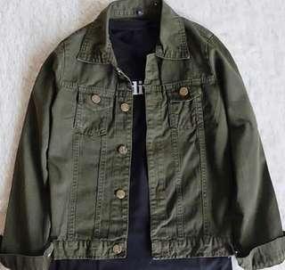army oversize jacket jeans denim