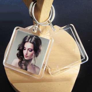 Acryllic Picture Frame Keychain
