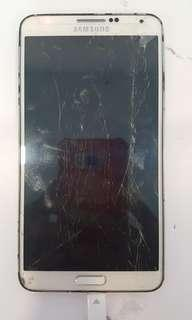 Samsung Note 3 LCD crack