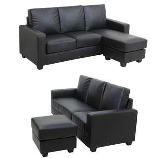 L Shape/3 Seater sofa with foot stool ♥️