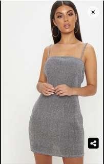 Silver strappy dress