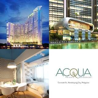 Acqua Private Residences - 1 Bedroom Penthouse at Sutherland Tower Mandaluyong City near Makati