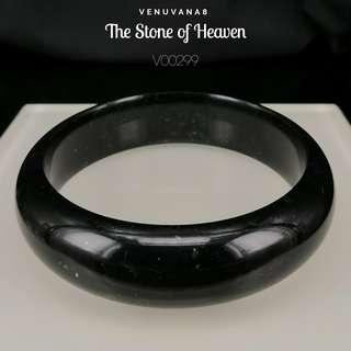 🚚 The Stone of Heaven Burmese Deep Dark Green Jadiete Bangle(Diameter 63mm Thickness 7.5mm) -Jadiete is priceless, it is an invaluable stone that is being highly respected and admired since ancient time until today.