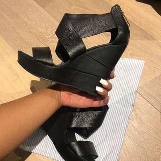 Kookai leather wedges