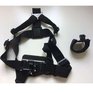 GoPro Accessories - Chest Mount Harness and Wrist Strap