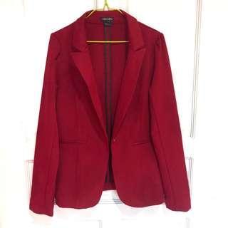 Dark Red Blazer