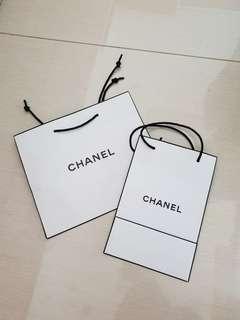 Take all paperbag chanel putih xs, s