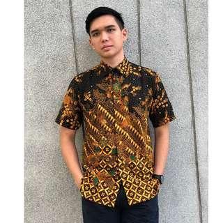 Short Sleeve Shirt Batik Kasim (Brown)