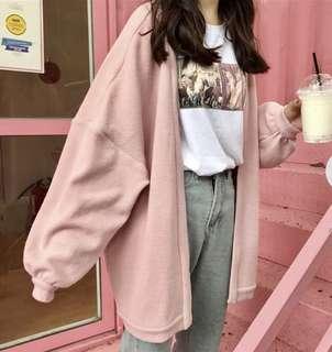 Pink oversized cardigan