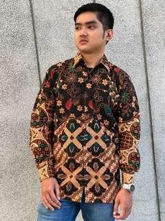 Long Sleeve Shirt Batik Mateen (Black)