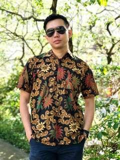 #OCT10 Short Sleeve Shirt Batik Maliq (Black)