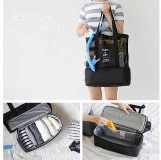 Mesh Bag Tote Outdoor Sports Layered Cooler Heat Insulation