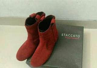 Sepatu Boots Staccato uk 37 Vgc