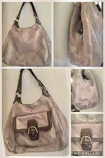 Auth. Coach Campbell Signature Tote Bag FREE SHIPPING