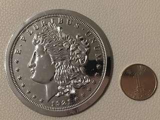 專業魔術大銀 3寸 少見款式 收藏或表演首選
