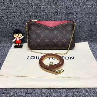 💯% Authentic LV Pallas Clutch
