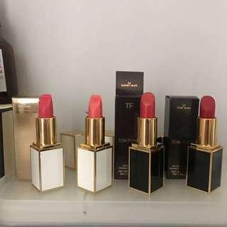 半價Tom ford 白管 黑管唇膏合集 lipstick compilation matte and sheer 07 paradiso 05 sweet spot 44 sunset blvd 07 ruby rush