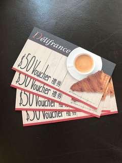 Delifrance $50 voucher coupon 現$16@