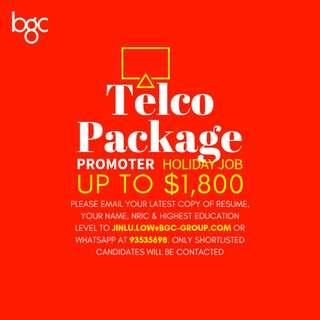 *HOLIDAY JOB* Telco Packages Promoter | up to $1800