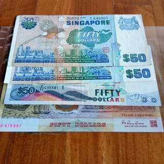 Singapore bird polymer ship series $50 lot sale
