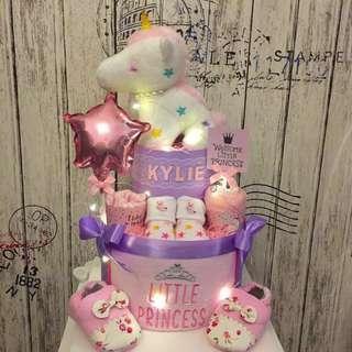 Unicorn 2-tier Diaper Cake