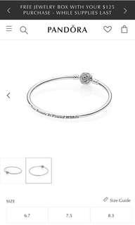 Pandora Disney, Beauty & The Beast Bangle Bracelet, Cleat CZ (Authentic, NEW)