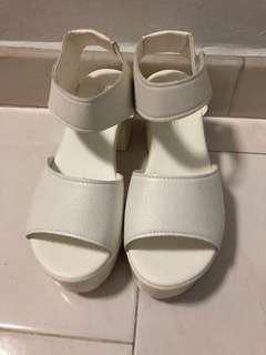 BN White Platform Heels (Size 36)