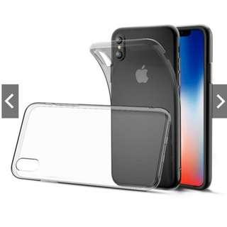 iPhone X Clear Soft TPU Silicone Phone Case / Casing