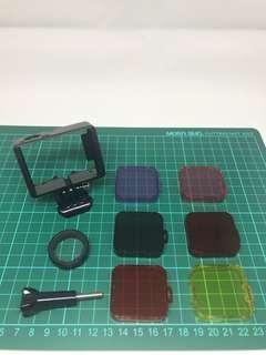 清貨大優惠!只此一套!GoPro 3/4邊框及濾鏡及UV保護鏡套裝