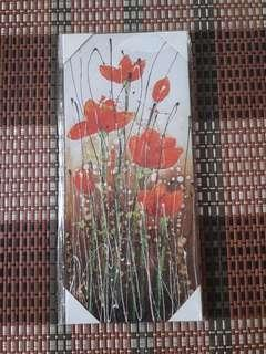 Wall Red Flower Picture Frame Decoration (Set of 2 Frames)