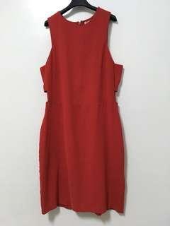 🚚 H&M紅色洋裝
