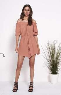 SHILLA THE LABEL POWER OFF SHOULDER ROMPER