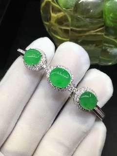 18k鑲鑽石翡翠手鐲
