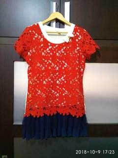 #1010 - Red dress tutu