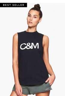 C&M - Camilla and Marc black singlet/muscle top - size 12
