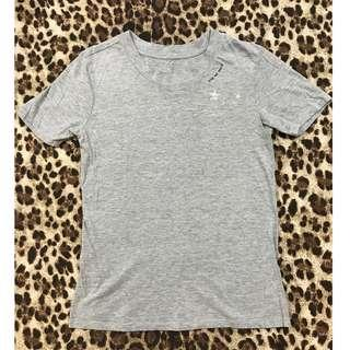 Grey merle crew-neck cotton tee