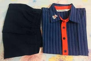 Mini jollibee manager costume 3-5yrs old (used once)