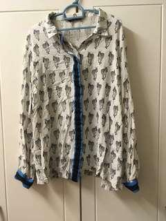 Blouse with Zebra Print #MY1010