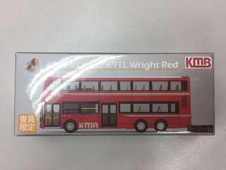 會員限定 Tiny 微影 KMB VOLVO B9TL Wright RED/ 1A 九巴 巴士
