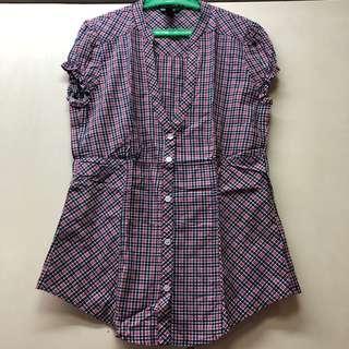 MANGO checkered blouse