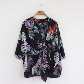 Floral outer black