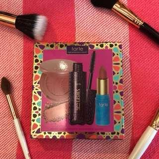 Tarte blush, mascara, and lipstick set