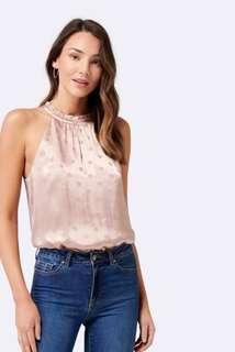 Forever New - Kehlani Jacquard spot bodysuit - size 12 *bnwt*