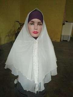 Hijab white ceruti