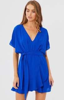 Tussah Leah mini dress in cobalt blue - brand new
