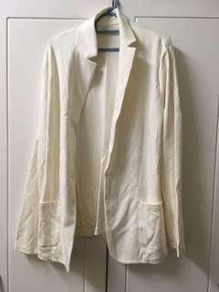 Uniqlo White Blazer