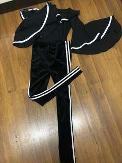 Velvet leggings (zara inspired)
