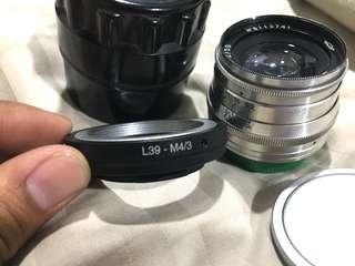 Jupiter 8, 50mm f2, 10 Blade - L39 Mirrorless camera lens